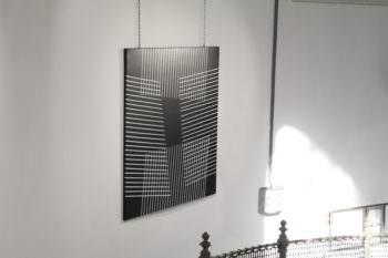 Support 2016, Acryllack auf Lederimitat, 130 x 130 cm