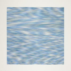 Vibration Research, 2018, Unikatsiebdruck auf Papier, 20x20 auf 35x35 cm