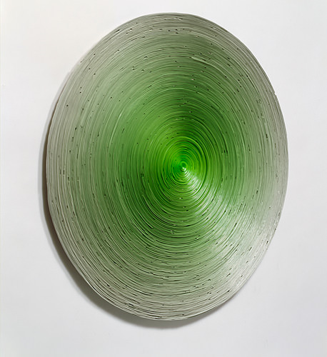 Ampel 2009, acrylic roled on aluminium, diameter 94 cm
