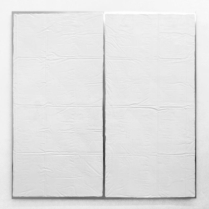 Great foldings 1 2009, 200 x 200 cm, zweiteilig, Acrylfarbe auf Aluminium kaschiert