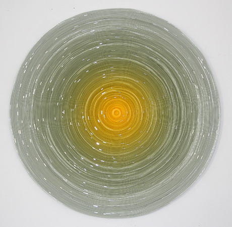 Ampel 2009, acrylic roled on aluminium, diameter 94 cm