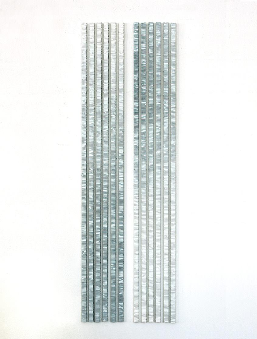 rain, 2010, Acrylic on aluminium, ~110 x 40 cm