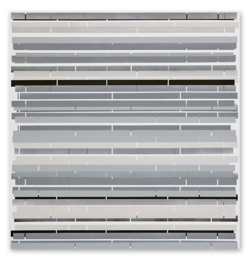 section 01, 2013, acrylic spray on aluminium, 76 x 75 cm
