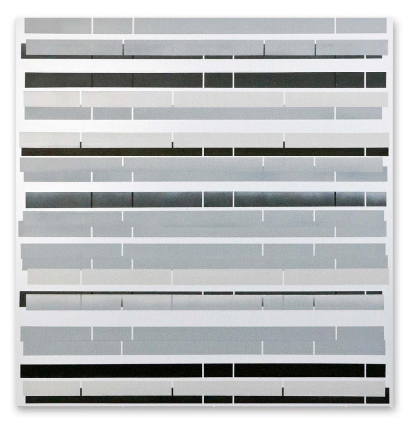 section 02, 2013, acrylic spray on aluminium, 76 x 75 cm