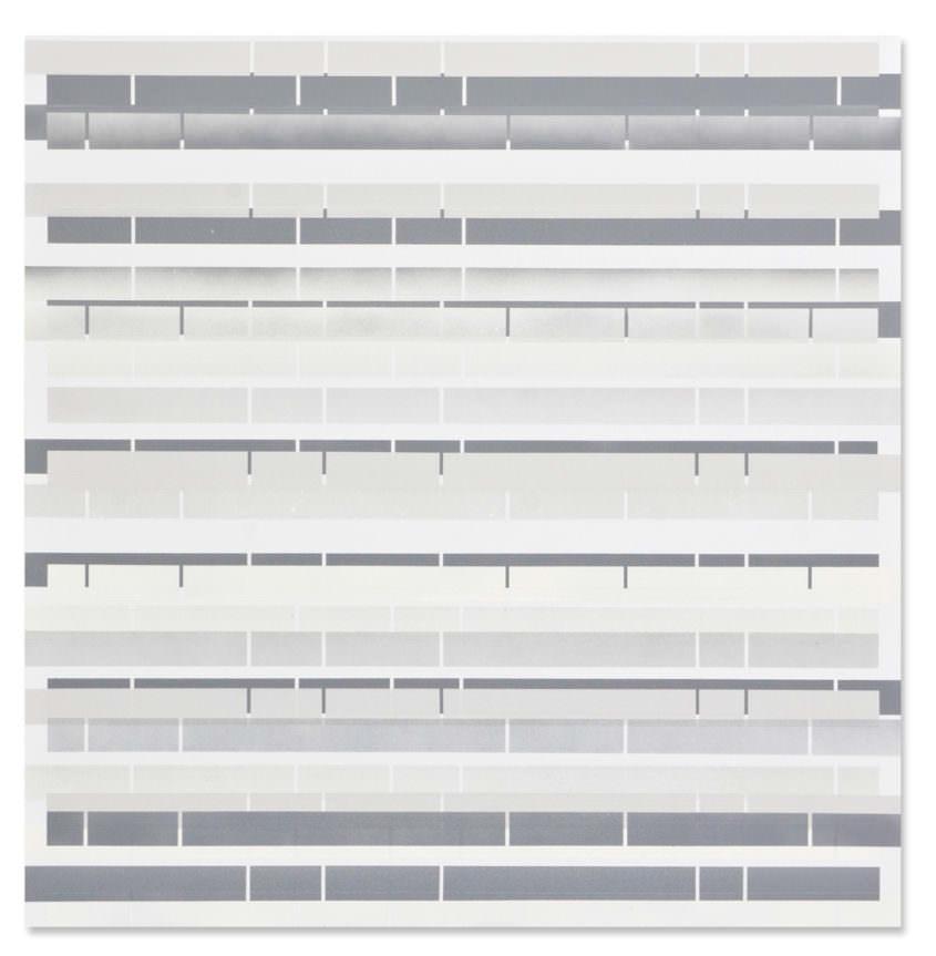 section 04, 2013, acrylic spray on aluminium, 76 x 75 cm