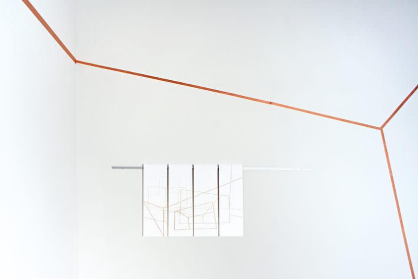 Loopen als Teil der Wandinstallation Loop, Künstlerhaus Wien 2015