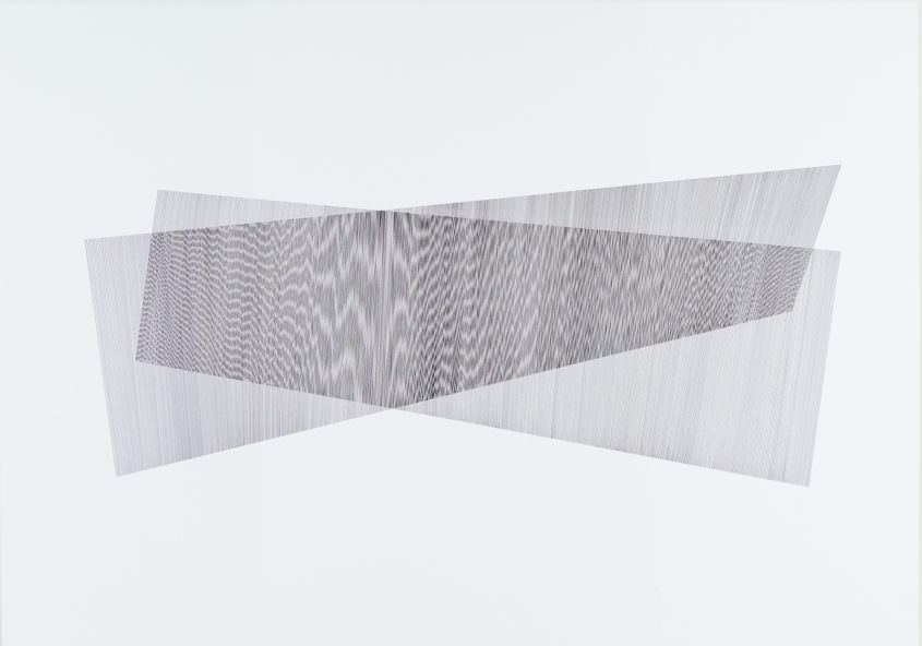 Overlay 02, 2017 Indian Ink on Cardboard, 70 x 100 cm
