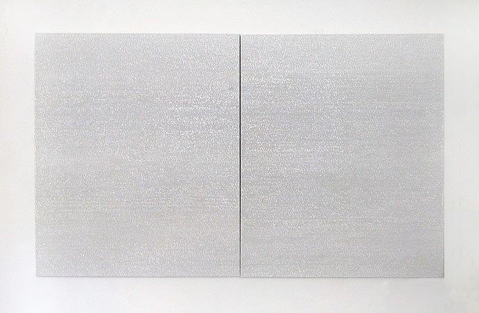 Zebra« 2006, je 50 x 50 cm, Acrylfarbe auf Leinwand