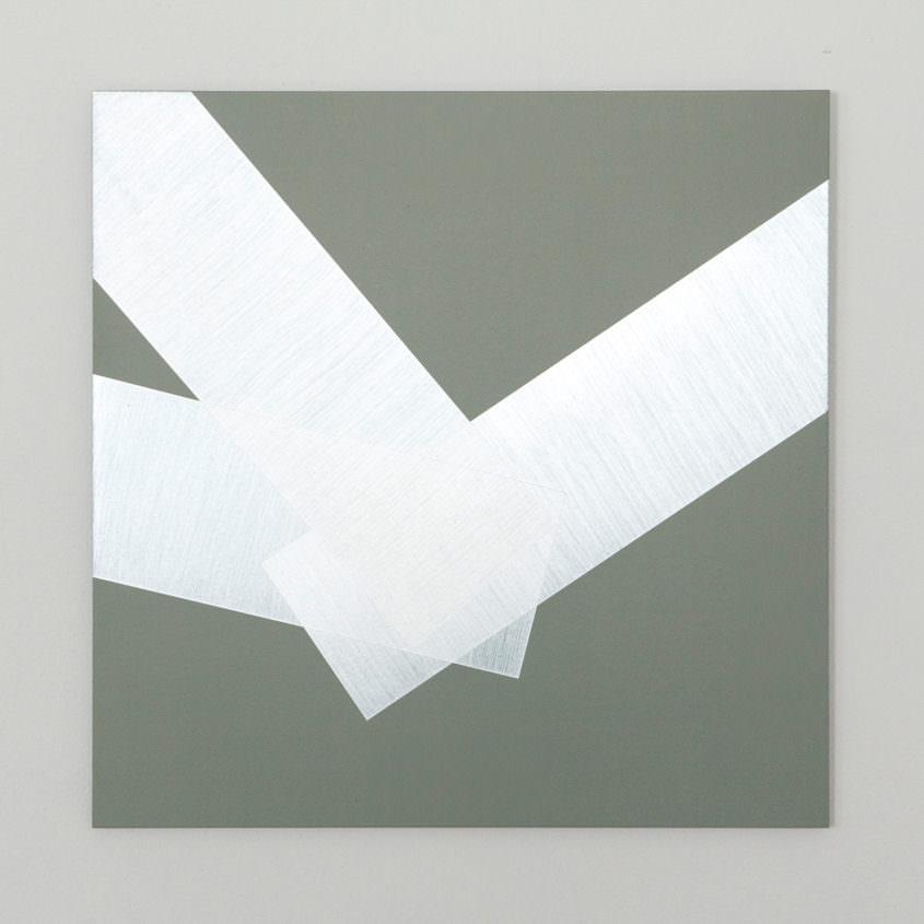Corner, 2017, acrylic on aluminium, 50 x 50 cm