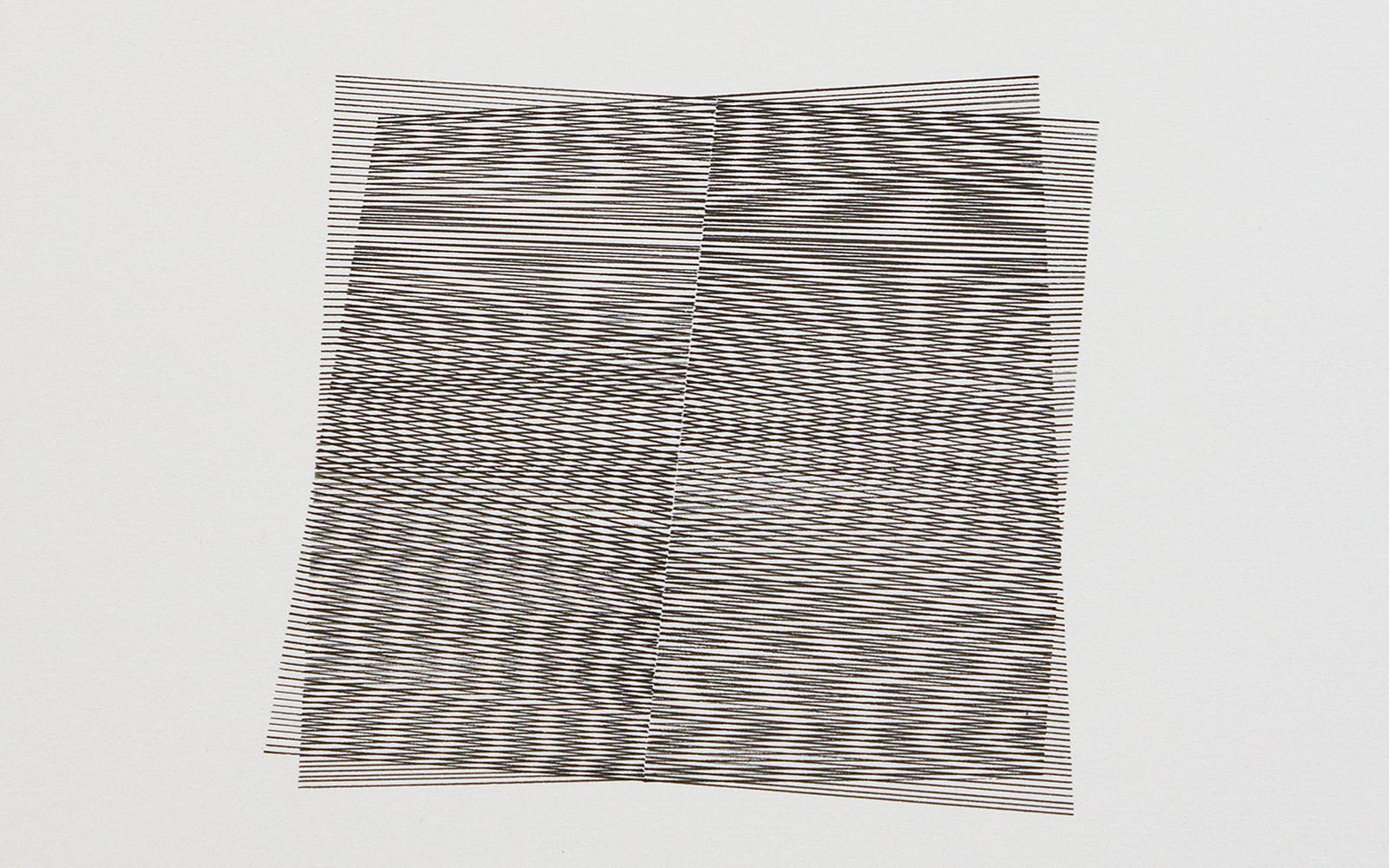 Moires 18, 2018, Ink on Cardboard, 30 x 30 cm