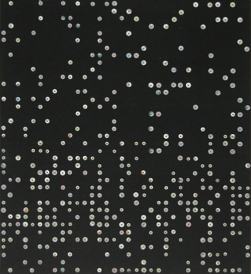 Farbbohrung 07, 1999, Dispersion, Bohrungen, 76 x 68 cm