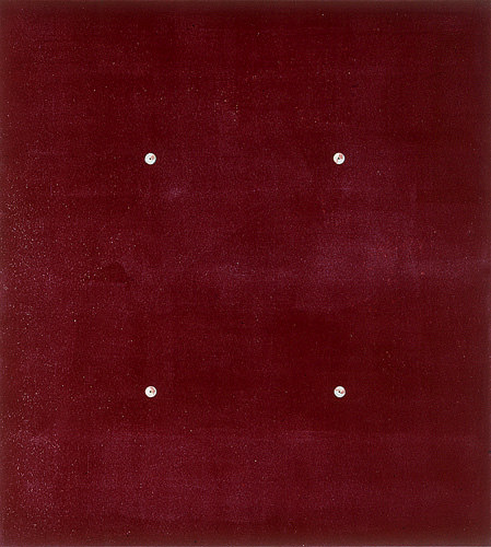 Farbbohrung 11, 1999, Dispersion, Bohrungen, 76 x 68 cm