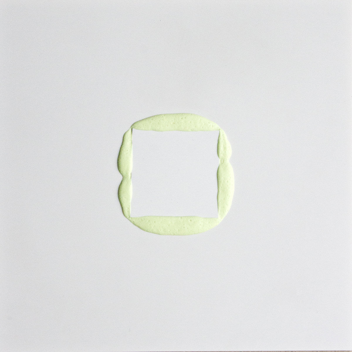 aus der Serie Squeeze, 2015, acrylic between polystyrol, 25 x 25 cm