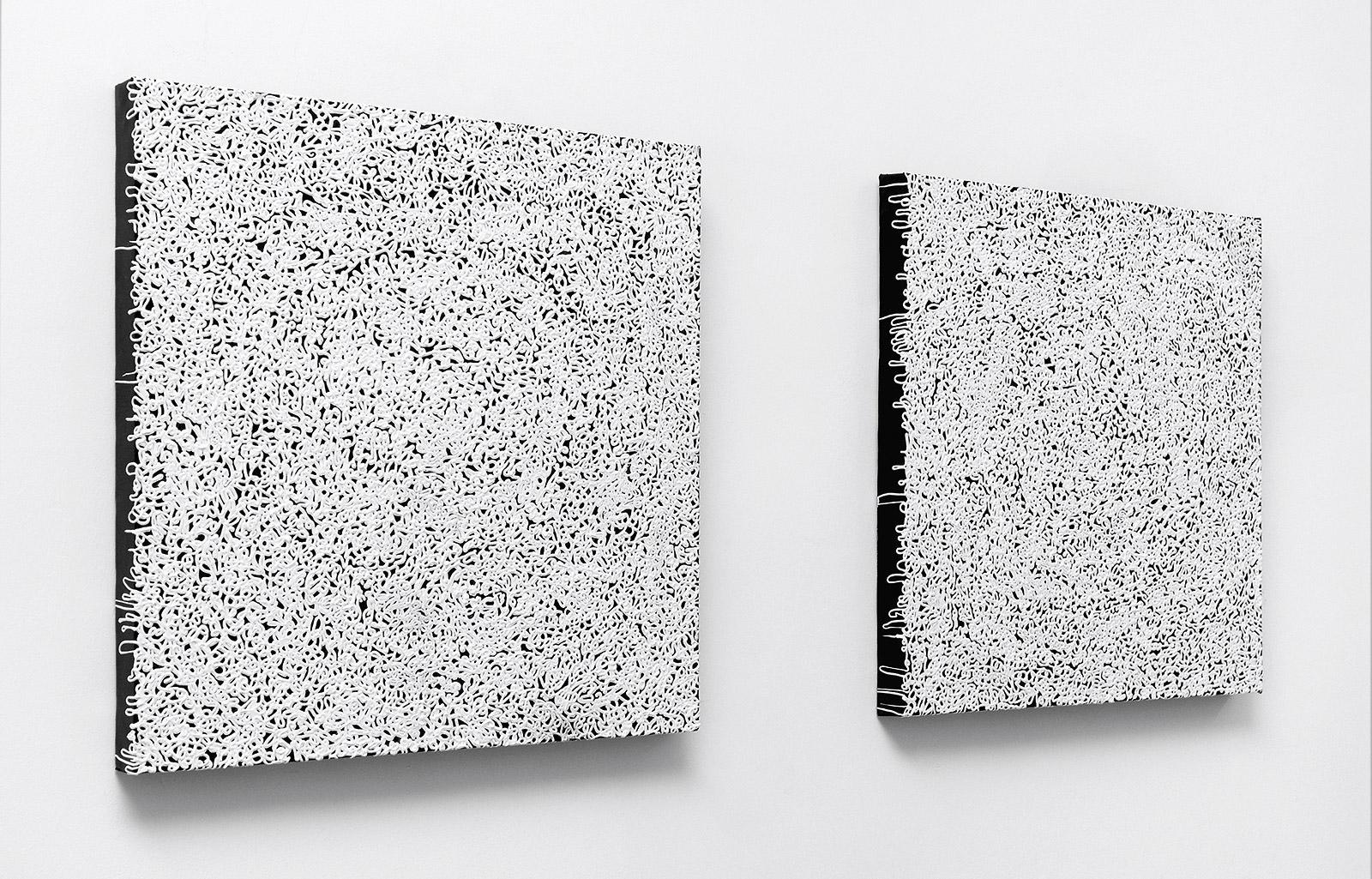 Oneliner (zebra), 2006, acrylic on canvas, á 50 x 50 cm