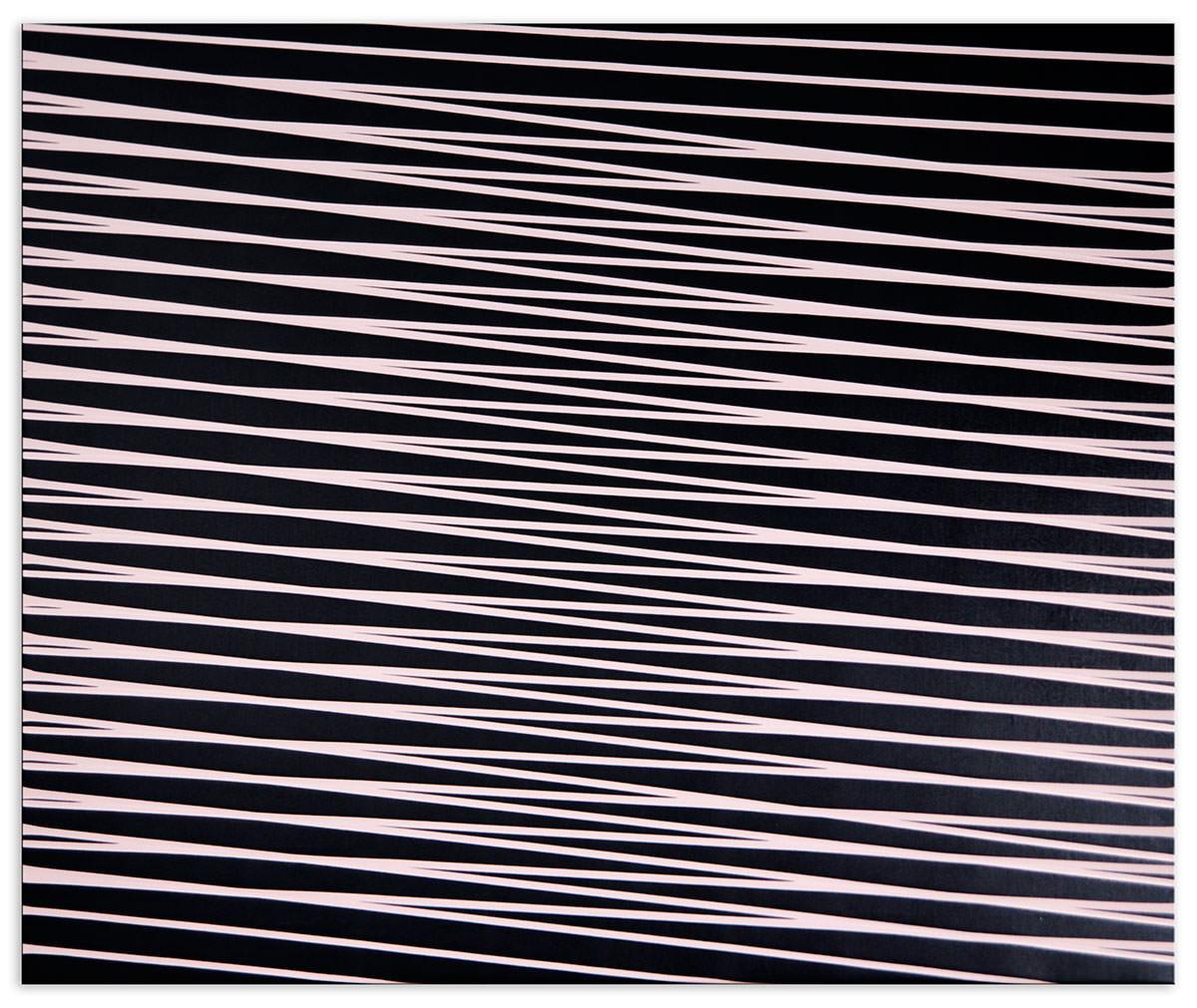 Wave PAth 1, 2017 Acryllack auf Lederimitat, 100 x 120 cm