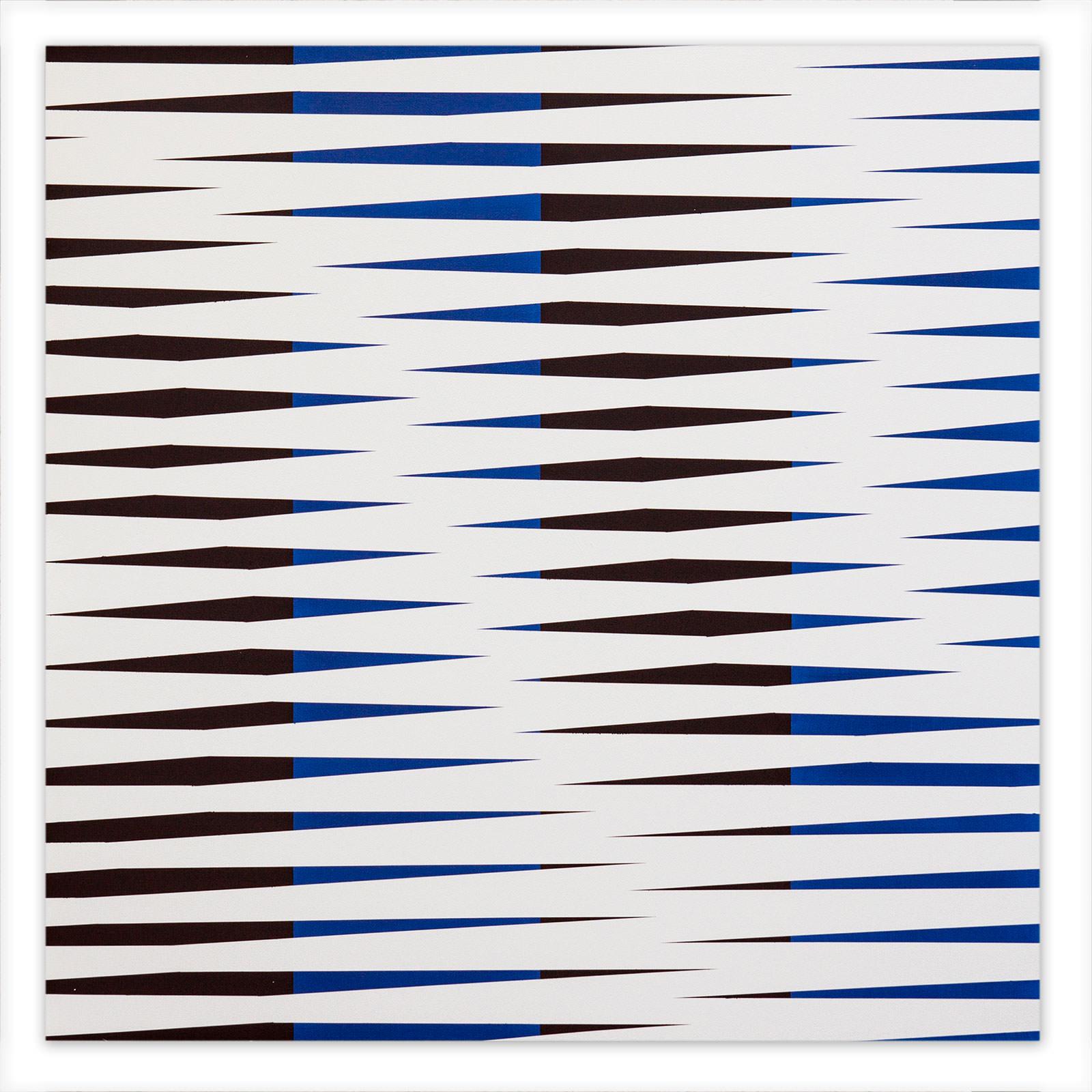 arrow 02, 2018, acrylic on enamel on aludibond, 95 x 95 cm