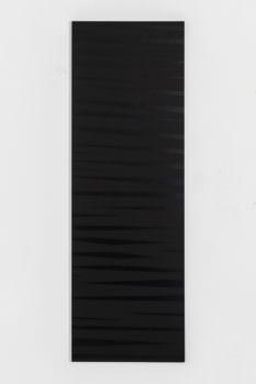 Barbara Höller, Dark Drift, 2019, Acrylic, Enamel, Aludibond, 150 x 50 cm