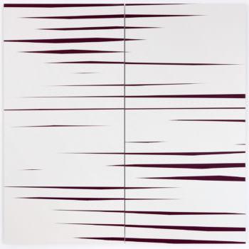 Driften 01, 2019, Acrylic, Enamel, Aludibond, two parts, 100 x 100 cm