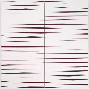 Driften 02, 2019, Acrylic, Enamel, Aludibond, two parts, 100 x 100 cm