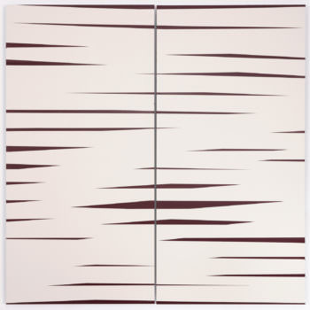 Driften 03, 2019, Acrylic, Enamel, Aludibond, two parts, 100 x 100 cm
